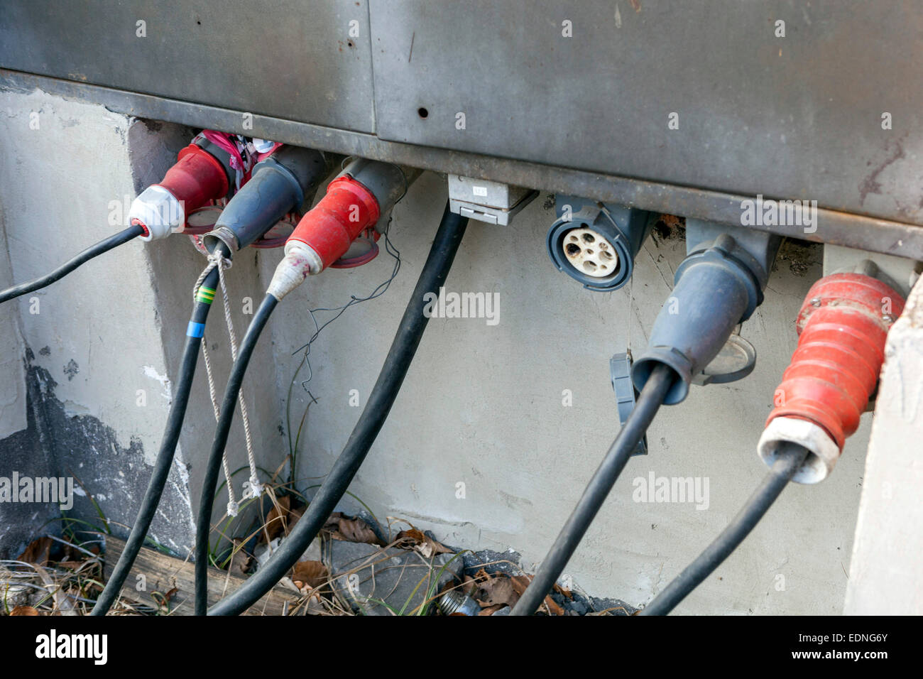 Outside Electrical Sockets Stock Photos Wiring A Plug Outlets Image
