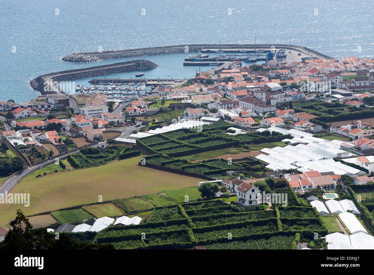 View of Vila Franca do Campo, Sao Miguel, Azores, Portugal - Stock Image