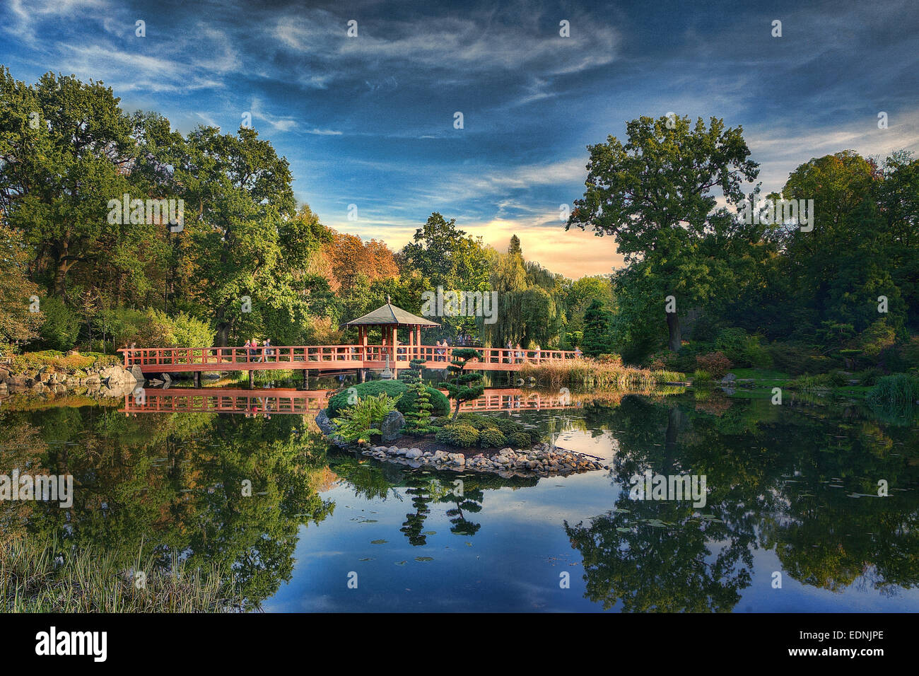 Japanese Garden in Wroclaw - Stock Image