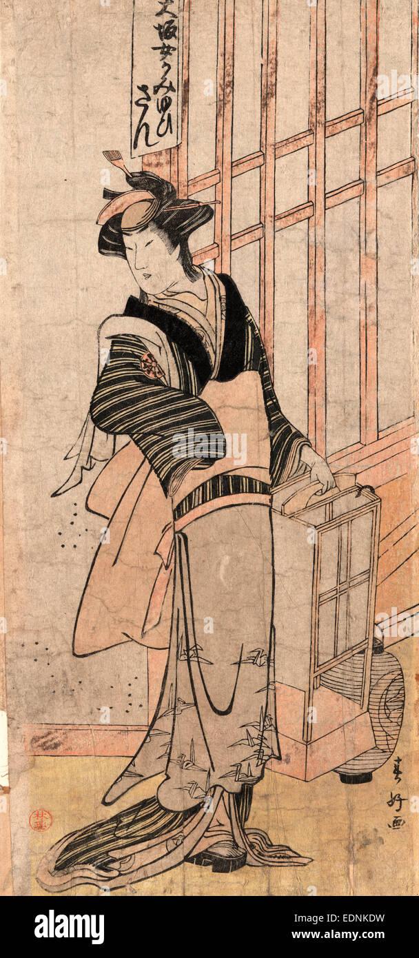 Mimasu tokujiro no san, Mimasu Tokujiro in the role of San., Katuskawa, Shunko, 1743-1812, artist, [178-], 1 print - Stock Image