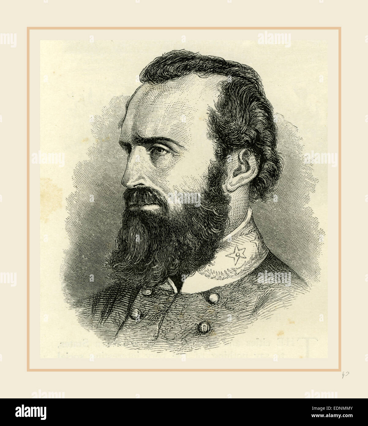 Stonewall Jackson, USA 19th Century, America - Stock Image