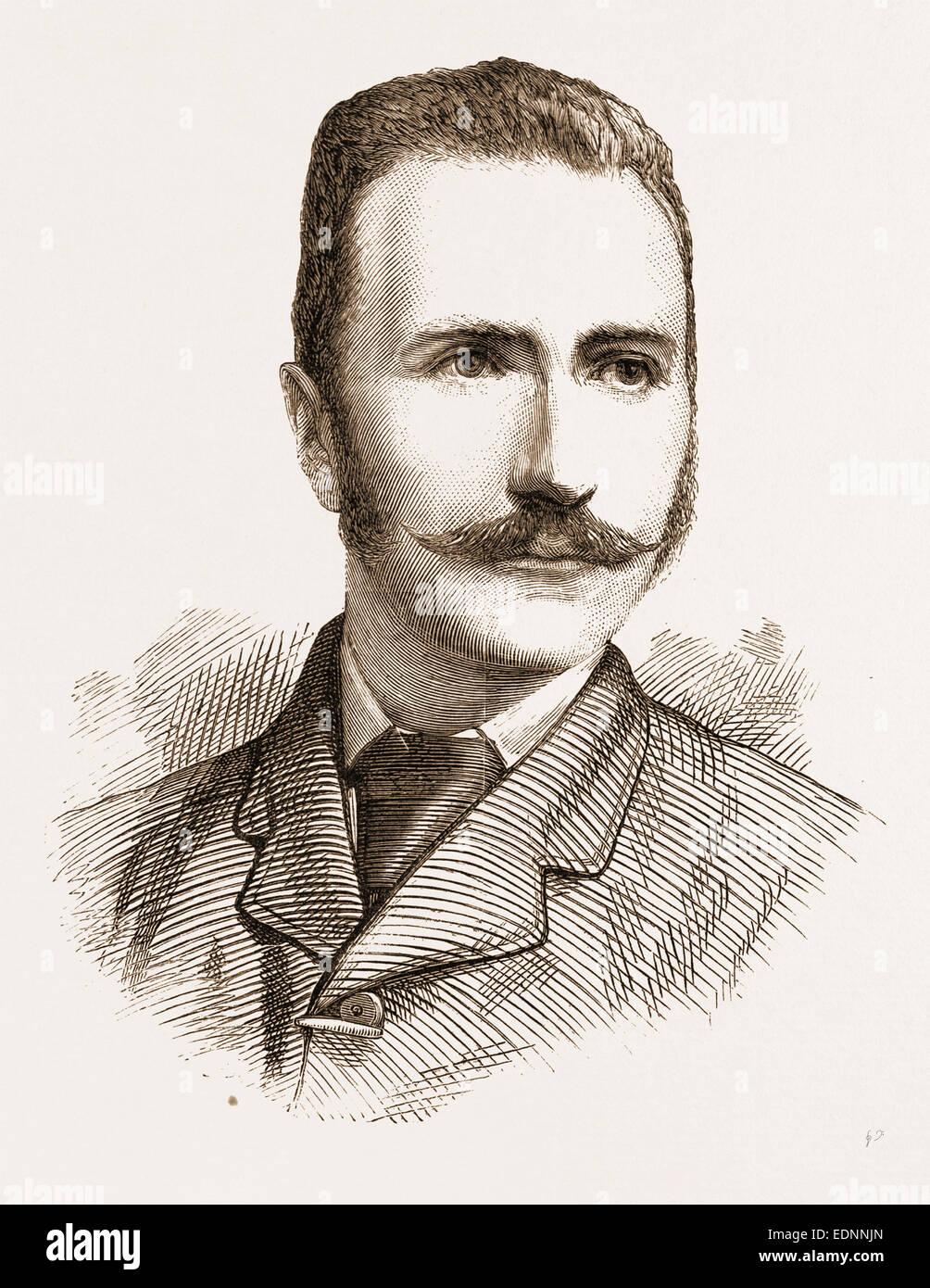 M R. J.A. CAMERON, 1881 - Stock Image