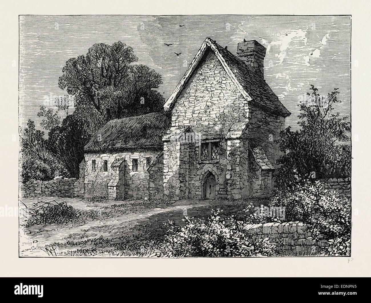 1750 Kilburn The priory KILBURN London c1880 old antique print picture