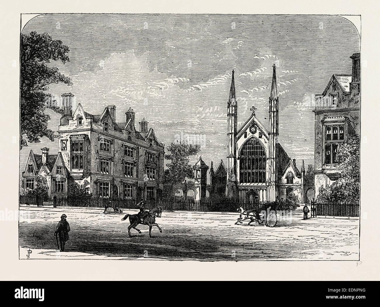 ST  KATHARINE'S HOSPITAL London, UK, 19th century engraving