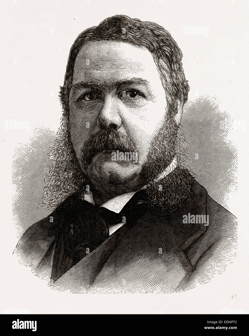 CHESTER A. ARTHUR, VICE-PRESIDENT-ELECT OF THE UNITED STATES, 1880, 19th century engraving, USA, America - Stock Image