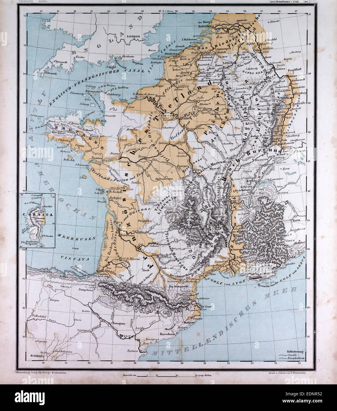 europe france belgium the netherlands atlas by th von liechtenstern and
