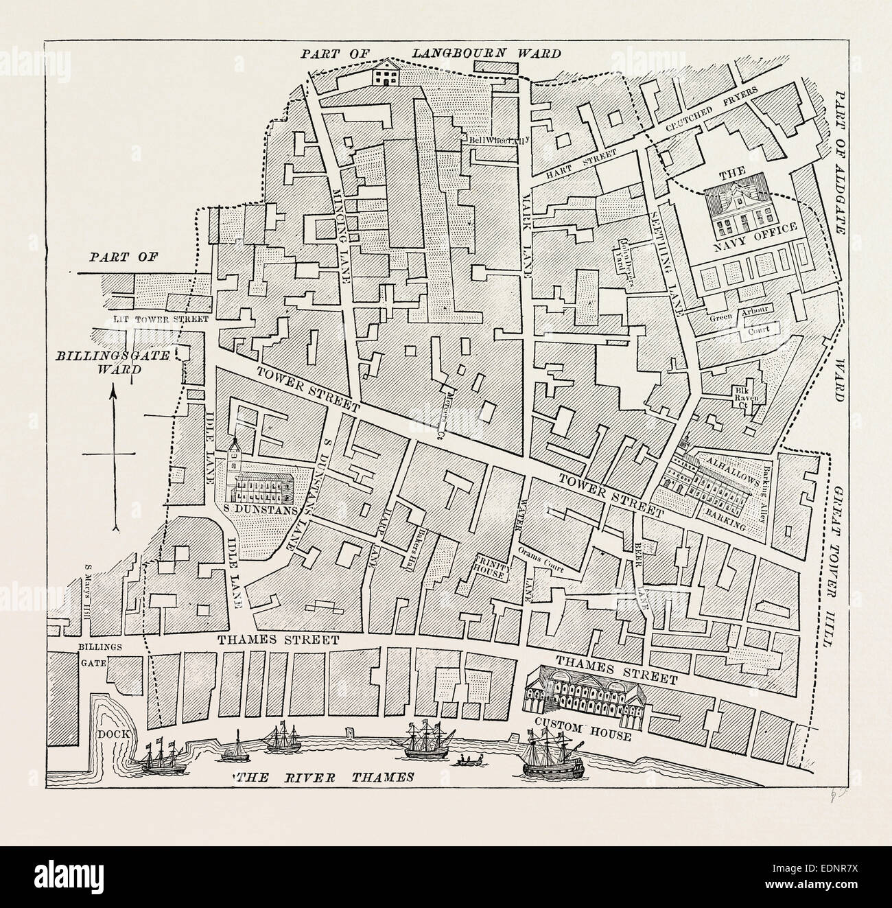 Street Map London Uk.London Street Map 19th Century Stock Photos London Street Map 19th