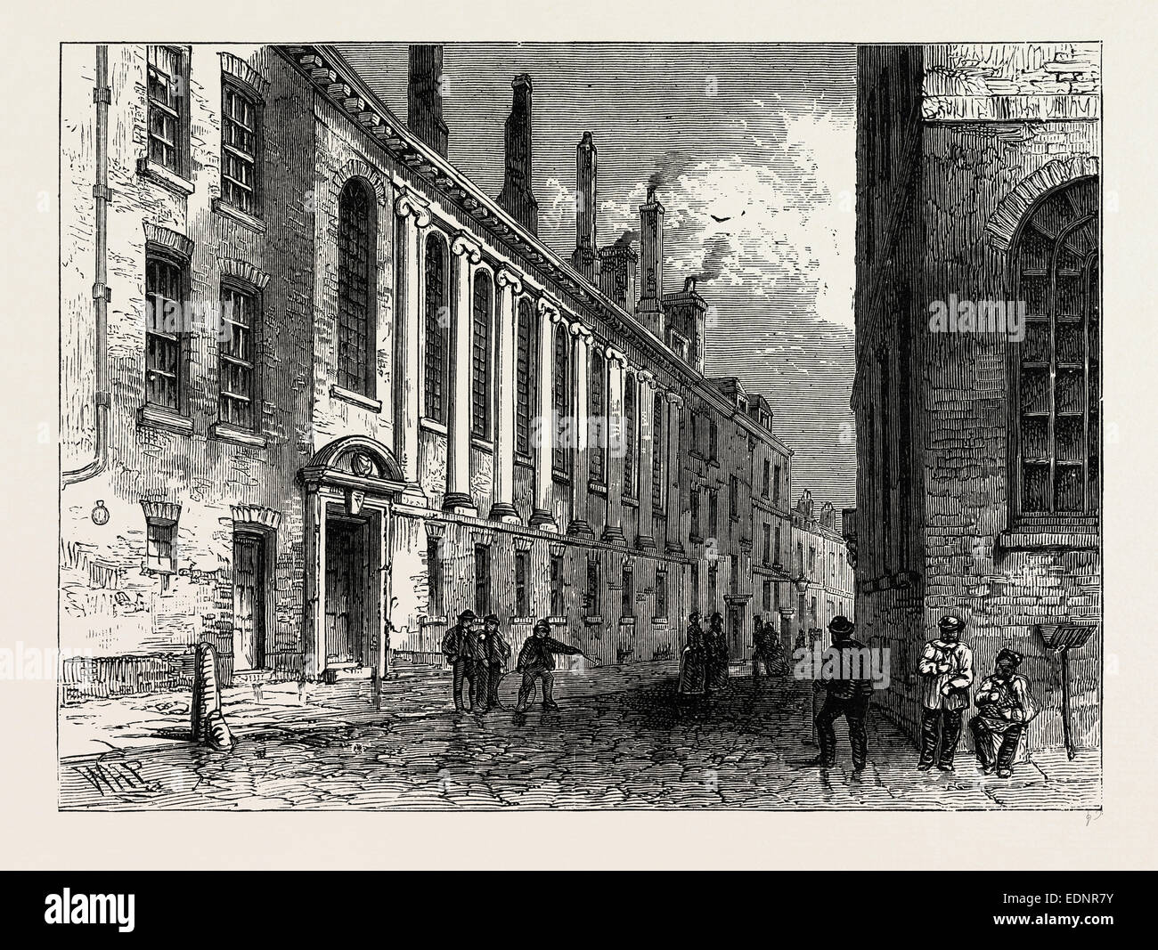 The Merchant's Taylors School, Suffolk Lane, London, UK, 19th century - Stock Image