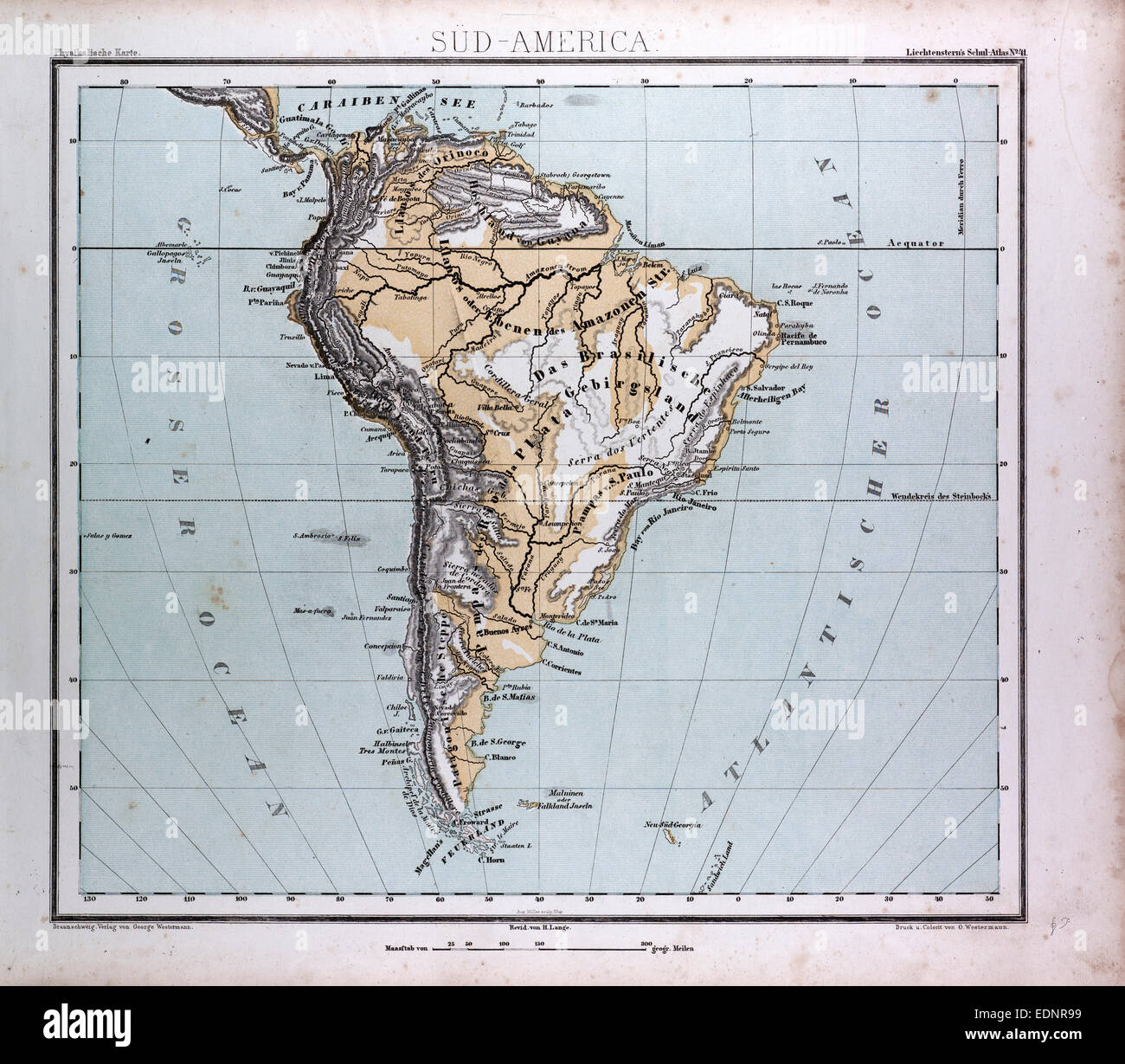 South America Map Stock Photos & South America Map Stock Images - Alamy