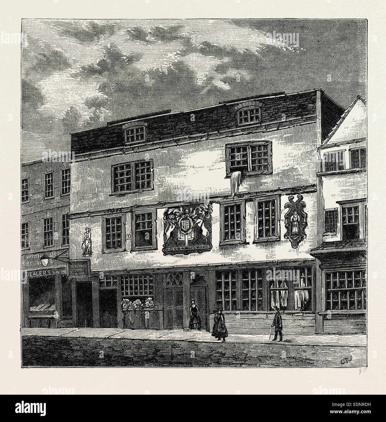 THE FORTUNE THEATRE, 1811, London, UK, 19th century engraving - Stock Image