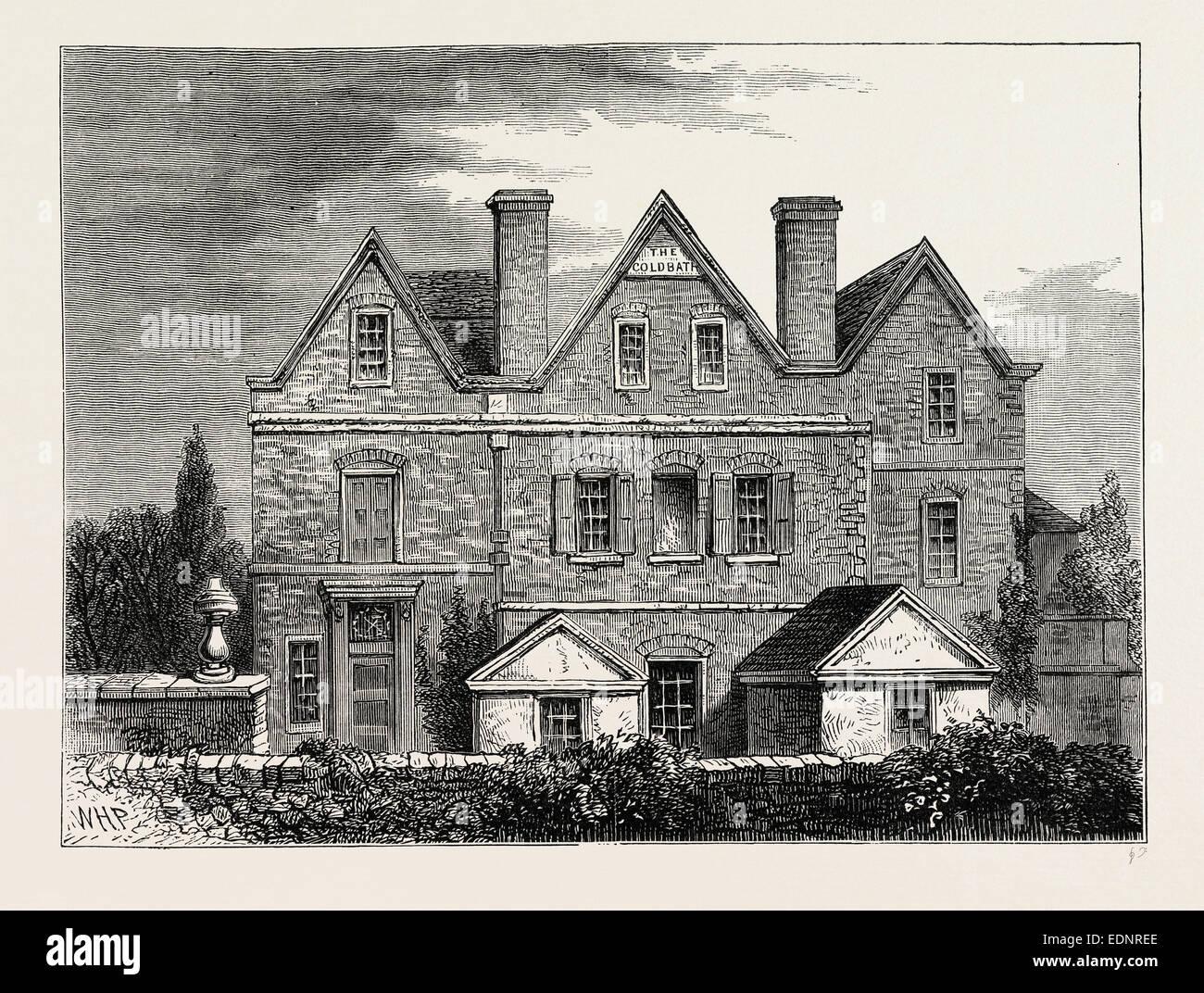 Coldbath House, 1811, London, UK, 19th century engraving - Stock Image