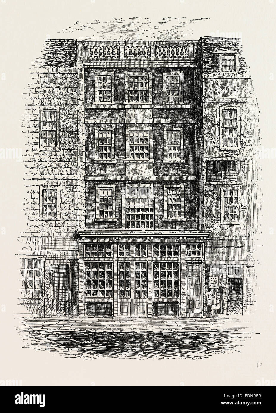JONATHAN WILD'S HOUSE. London, UK, 19th century engraving - Stock Image