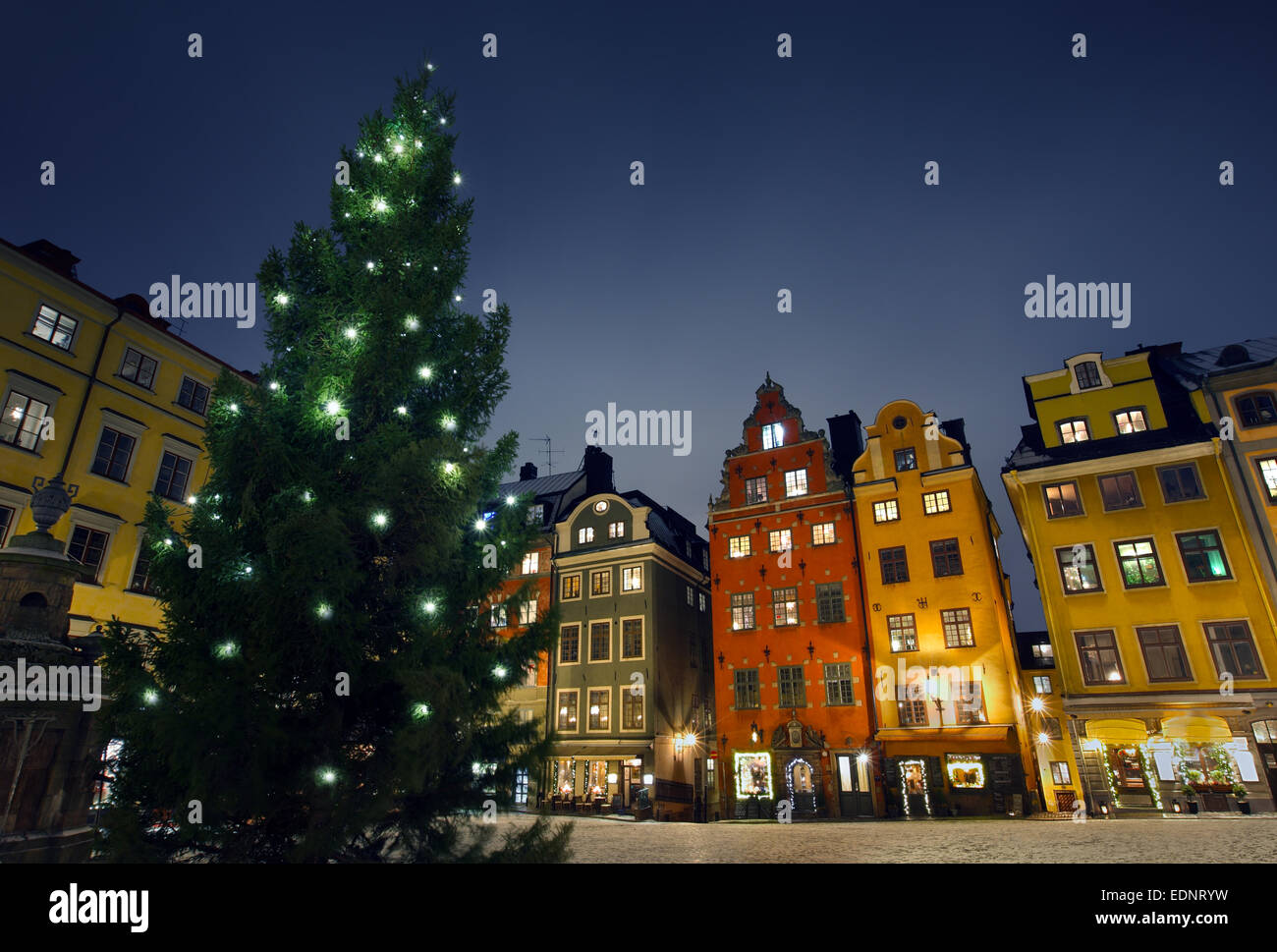 Stortorget at Chritmas time - Stock Image