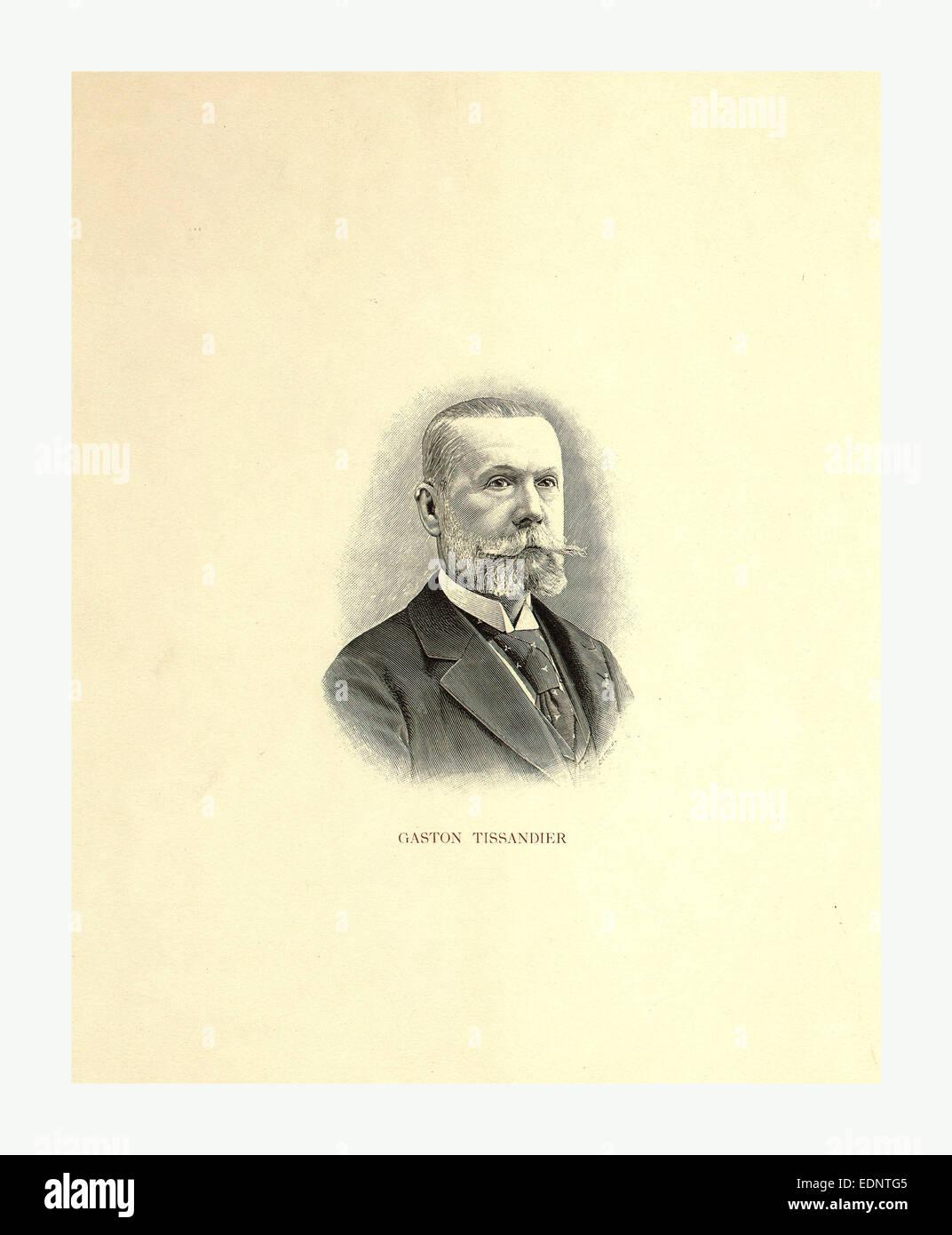 Gaston Tissandier by Ch. Dietrich, sculps., Paris between 1880 and 1900 - Stock Image