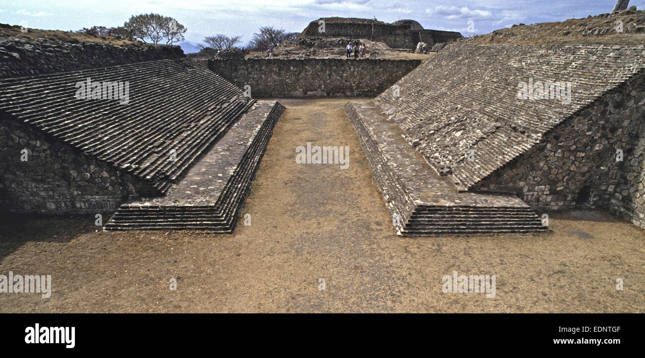 Treasures found at Monte Alban in Oaxaca, Mexico, during excavations of the large pre-Columbian archaeological site. - Stock Image
