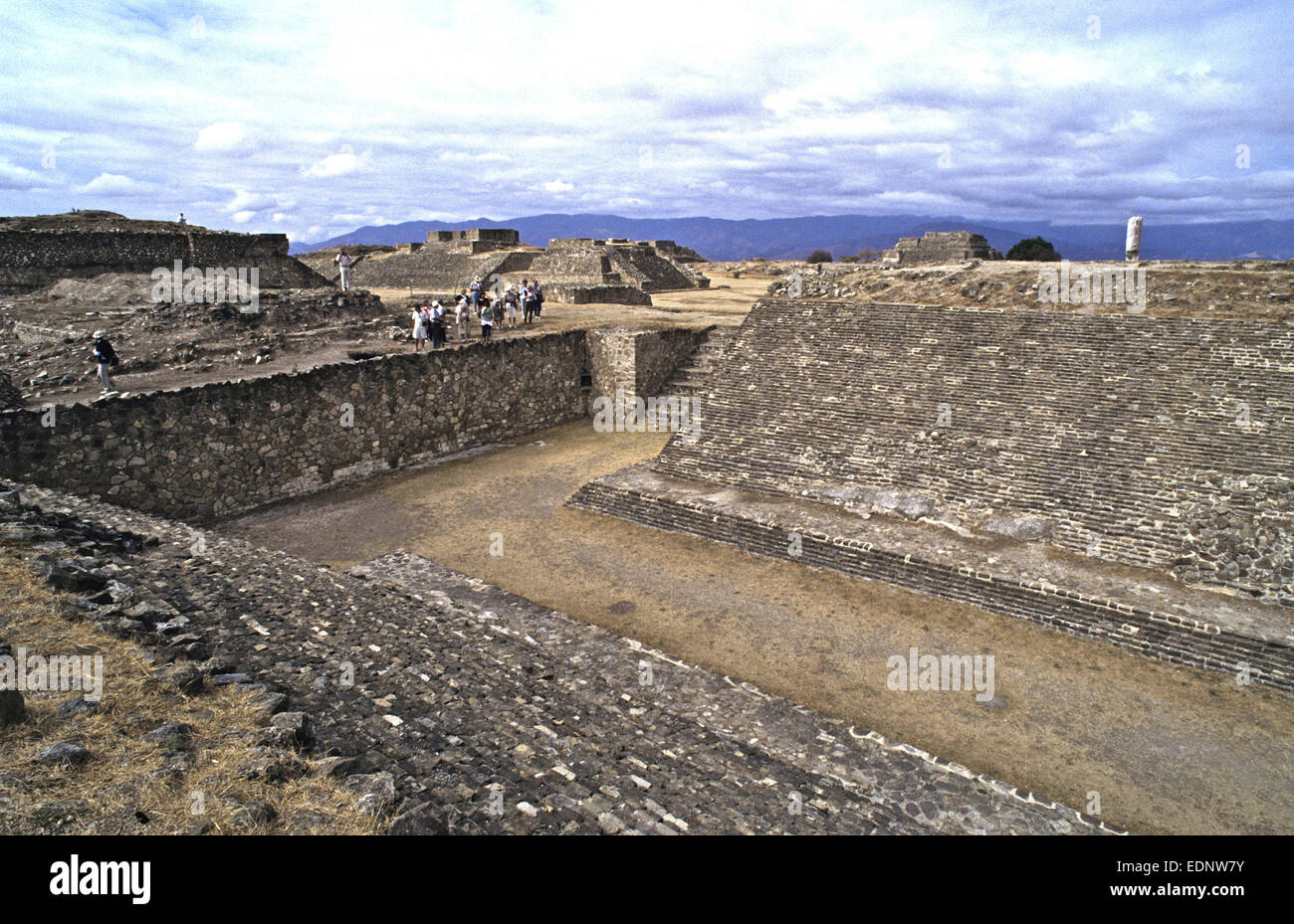 Treasures found at Monte Alban in Oaxaca, Mexico during excavations of the large pre-Columbian archaeological site. - Stock Image