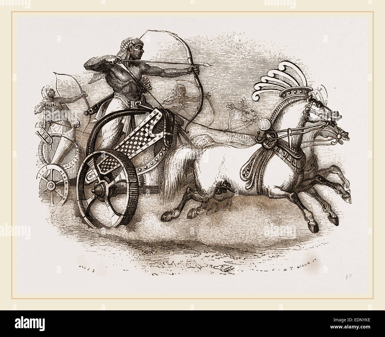 Egyptian War-chariot - Stock Image