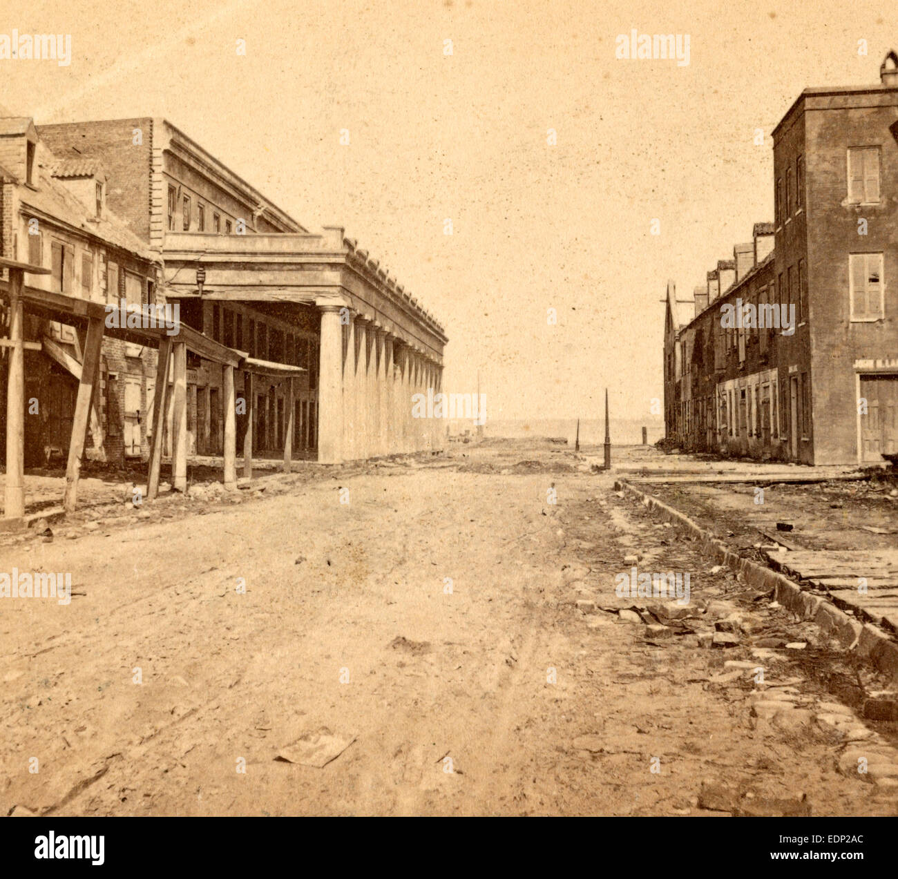 Vendue Range, Charleston, S.C., looking east, from near the corner of East Bay St., USA, US, Vintage photography - Stock Image