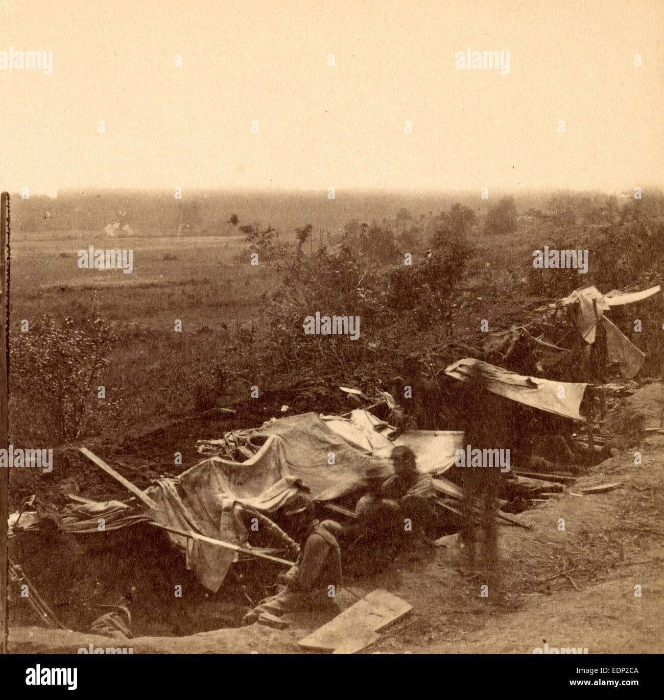 Our boys in the trenches, USA, US, Vintage photography - Stock Image