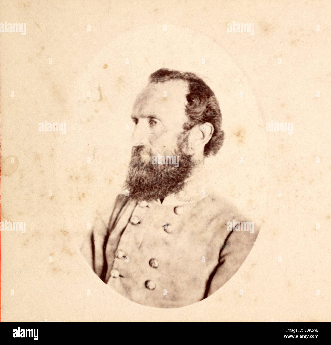 Stonewall Jackson, US, USA, America, Vintage photography - Stock Image