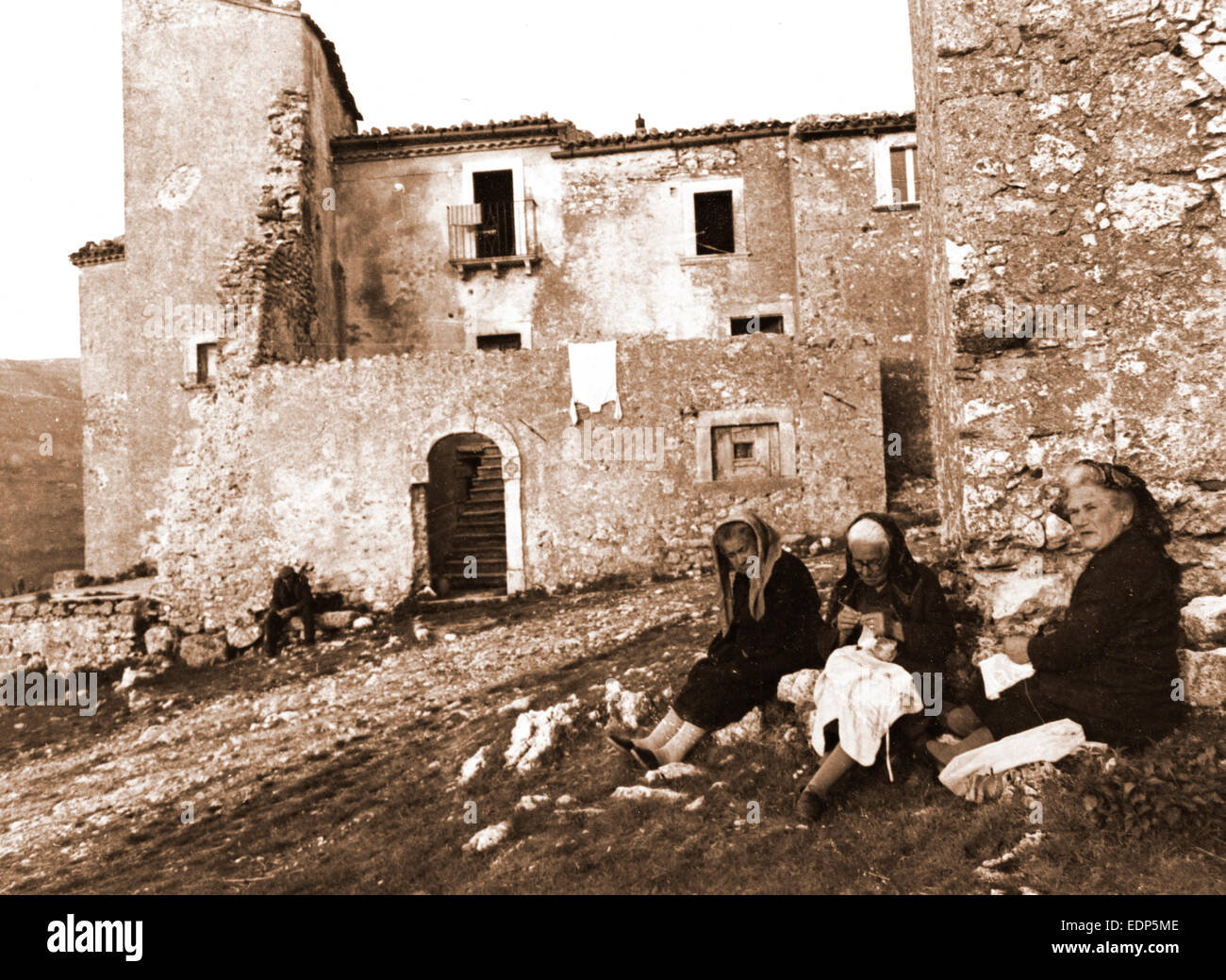 Abruzzo, L'Aquila, Santo Stefano di Sessanio, General views, Ima, Italy, 20th century, photo, photography, Europe - Stock Image