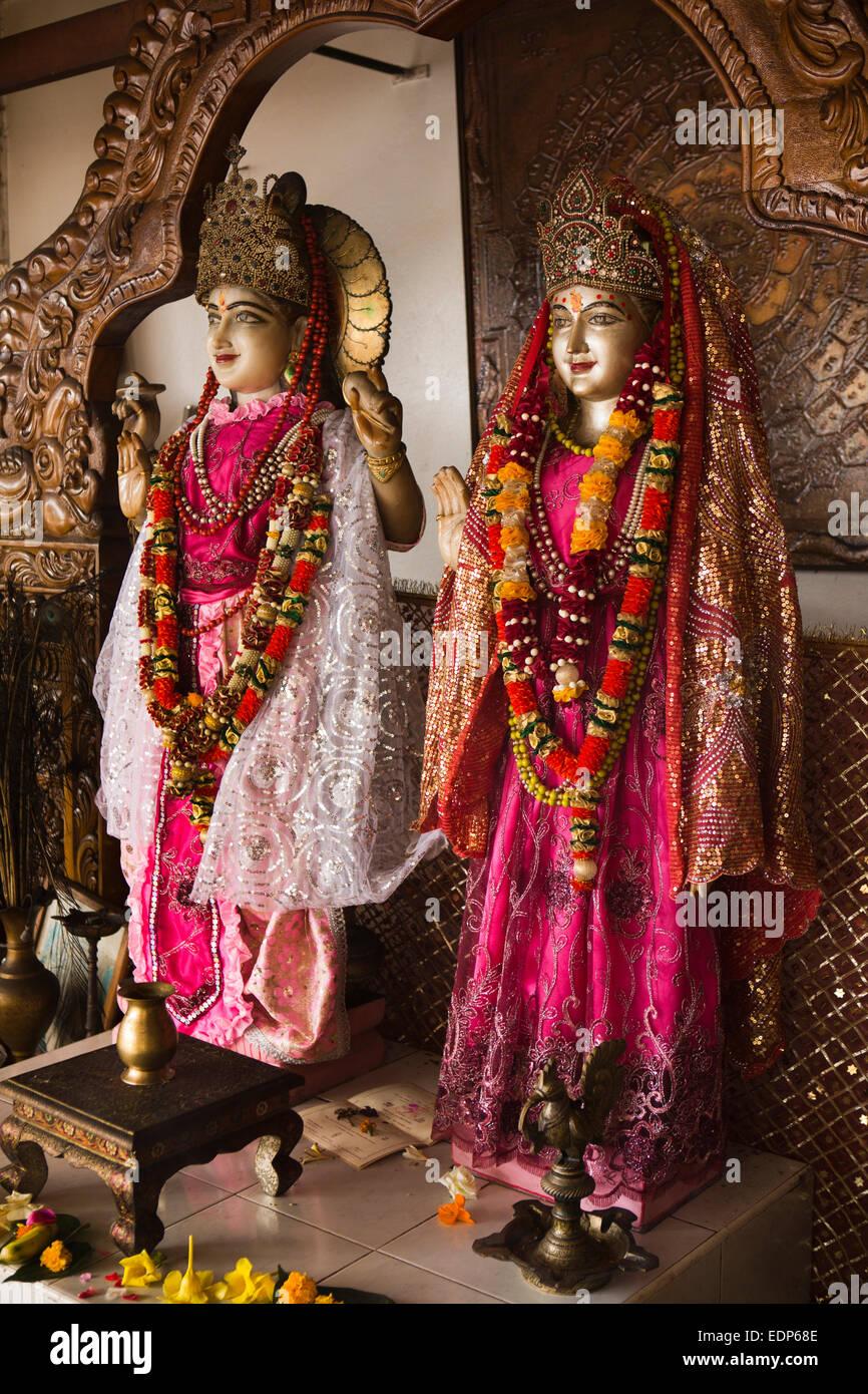 Mauritius, Grand Bassin, inside Ganga Talao Jyotiinga temple, Hindu deities - Stock Image