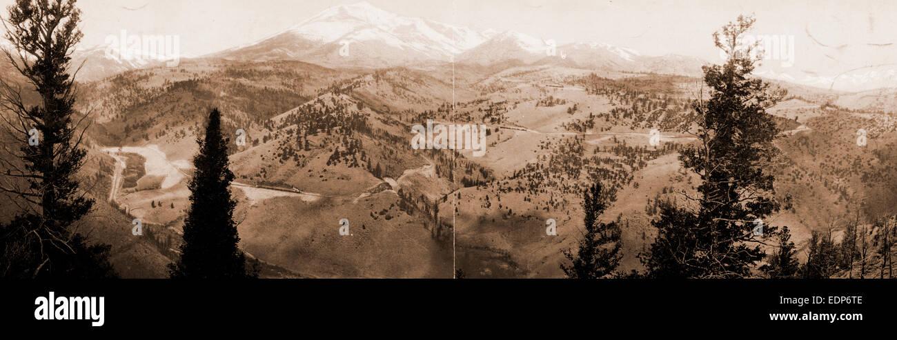 Marshall Pass, Colorado, Jackson, William Henry, 1843-1942, Mountains, United States, Colorado, Marshall Pass, 1899 - Stock Image