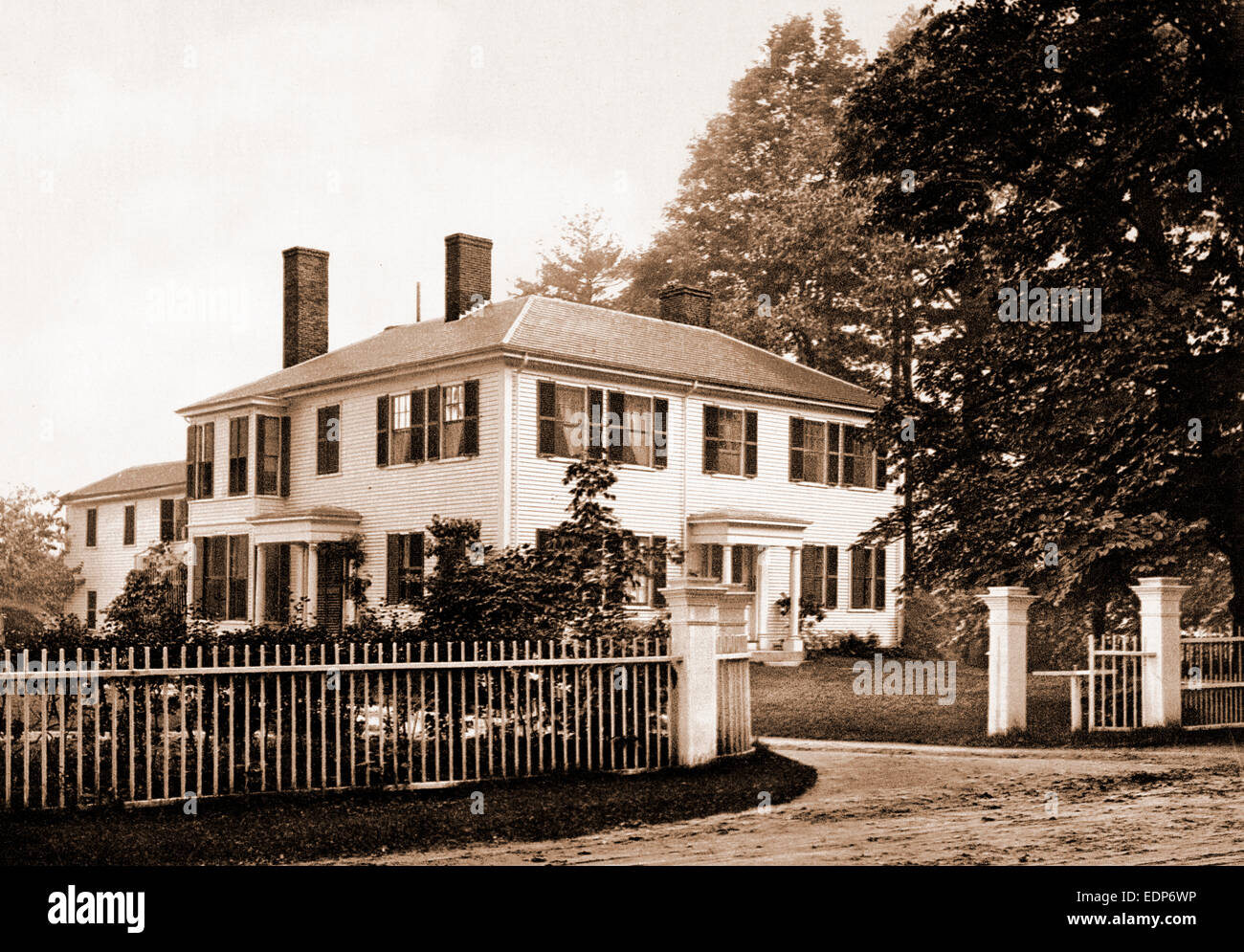 The Emerson House, Concord, Emerson House (Concord, Mass.), Dwellings, United States, Massachusetts, Concord, 1900 - Stock Image