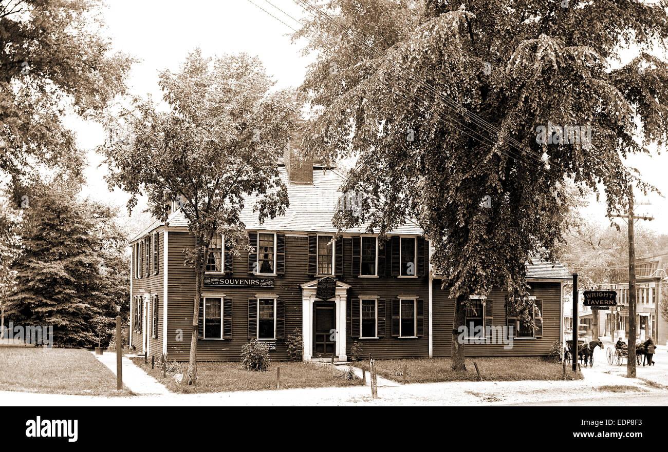 Wright Tavern, Concord, Mass, taverns (inns), United States, Massachusetts, Concord, 1900 - Stock Image