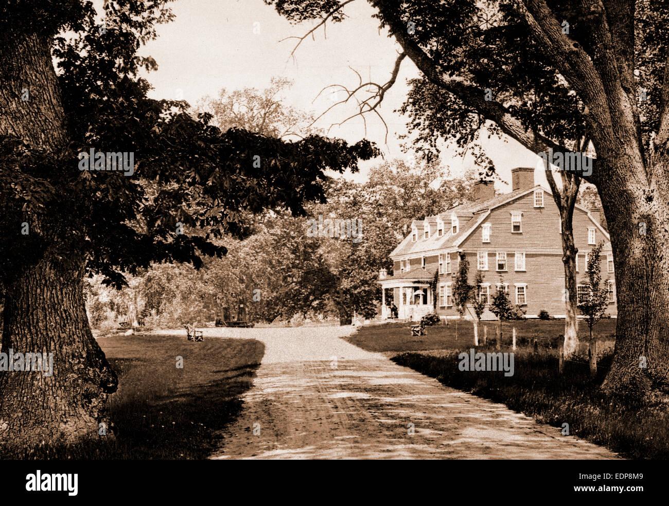 The Wayside Inn, Sudbury, Massachusetts, taverns (inns), United States, Massachusetts, Sudbury, 1900 - Stock Image