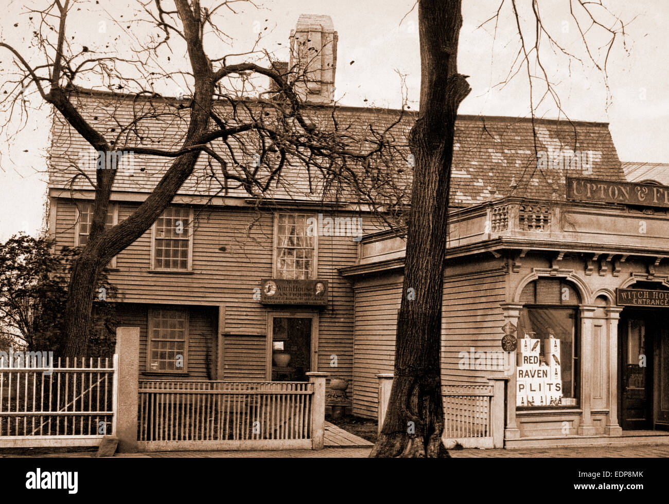 The Witch House, Salem, Antique stores, Dwellings, United States, Massachusetts, Salem, 1901 - Stock Image