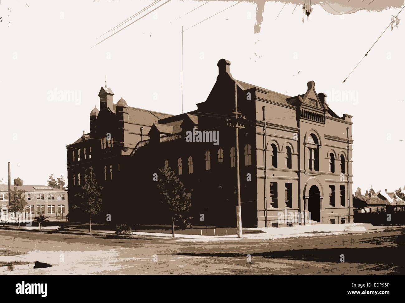 Throop Institute, Pasadena, Educational facilities, Universities & colleges, United States, California, Pasadena, - Stock Image