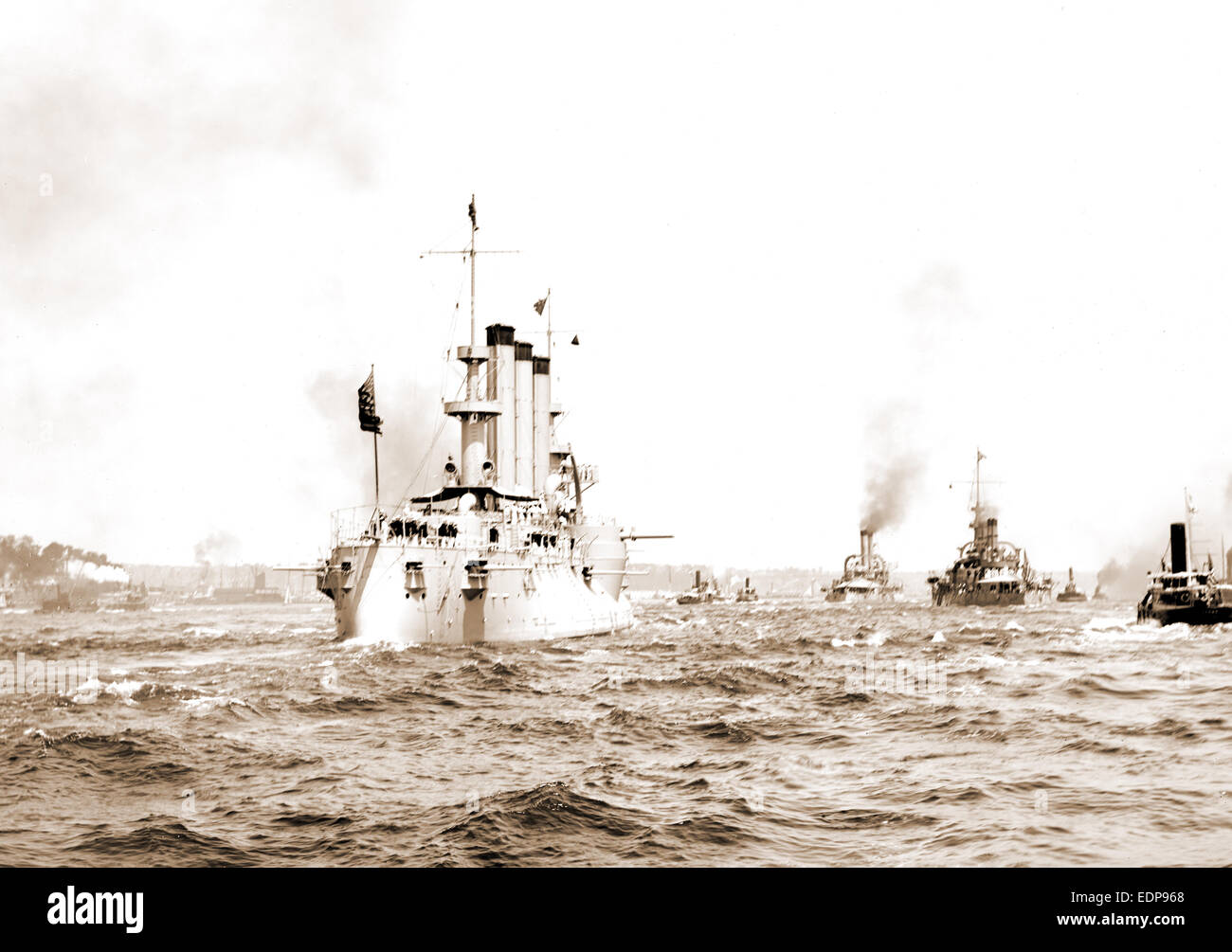 U.S.S. M .., Government vessels, American, 1898 - Stock Image