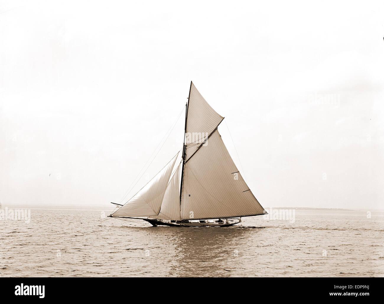 Oweene, July 16, 1891, Oweene (Sloop), Yachts, 1891 - Stock Image