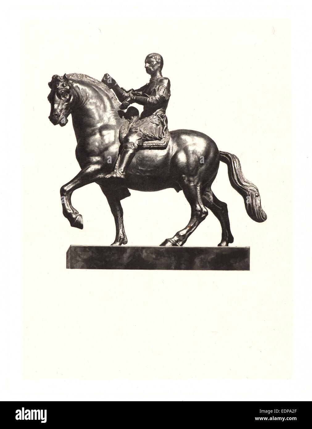 Claude-Ferdinand Gaillard (French, 1834 - 1887) after Donatello (Italian, ca. 1386 - 1466). Gattamelata, 19th century. - Stock Image
