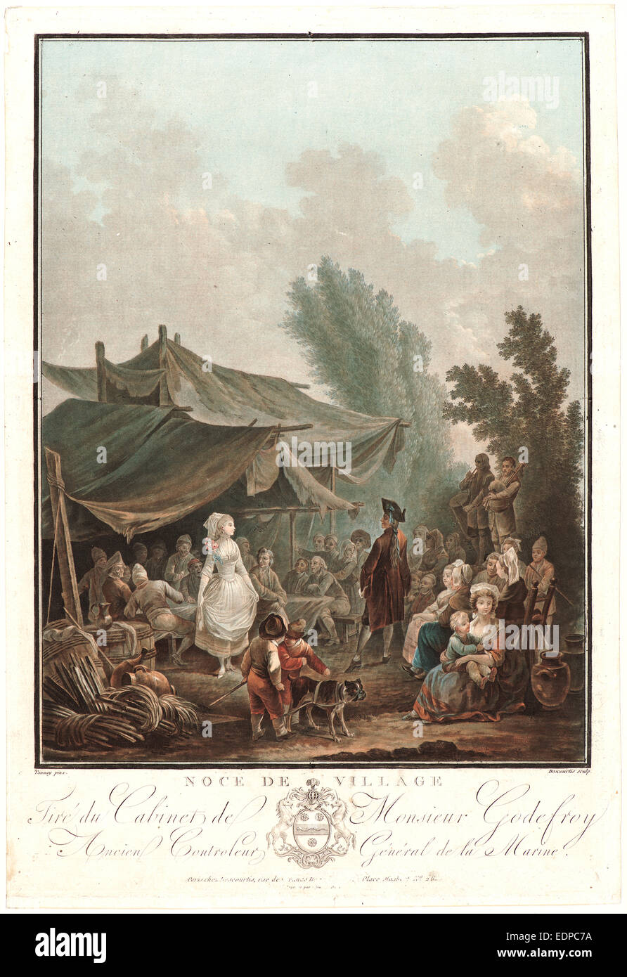 Charles-Melchior Descourtis (French, 1753-1820) after Nicolas-Antoine  Taunay (French, 1755-1830). Village Wedding