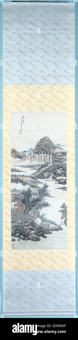 Hermit in the Mountains, Zhu Henian - Stock Image