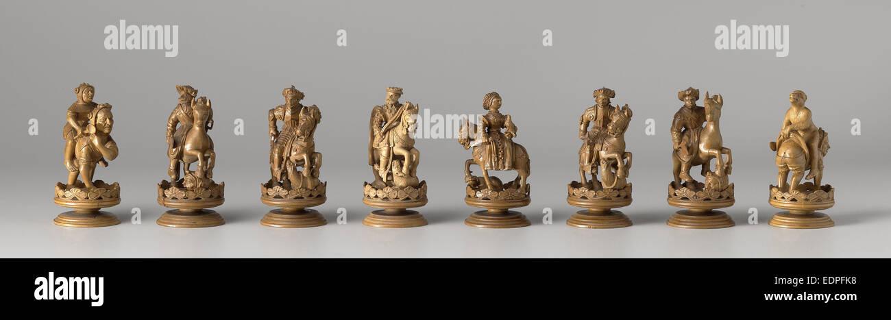Chess set, Anonymous, c. 1550 - Stock Image