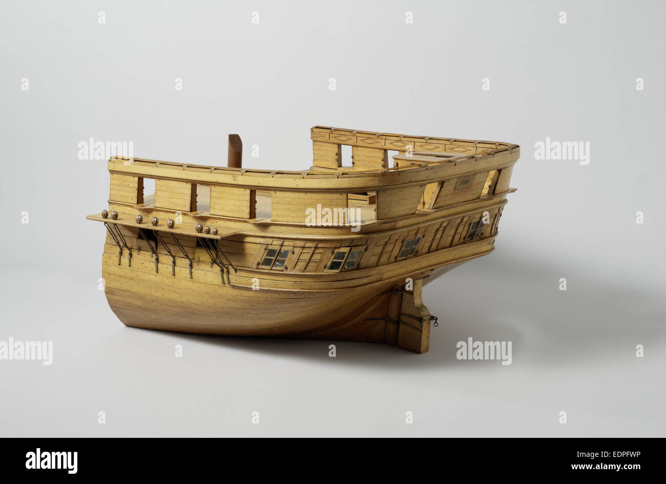 Model of a stern of a frigate of 60 pieces, Pieter Glavimans, c. 1831 - Stock Image