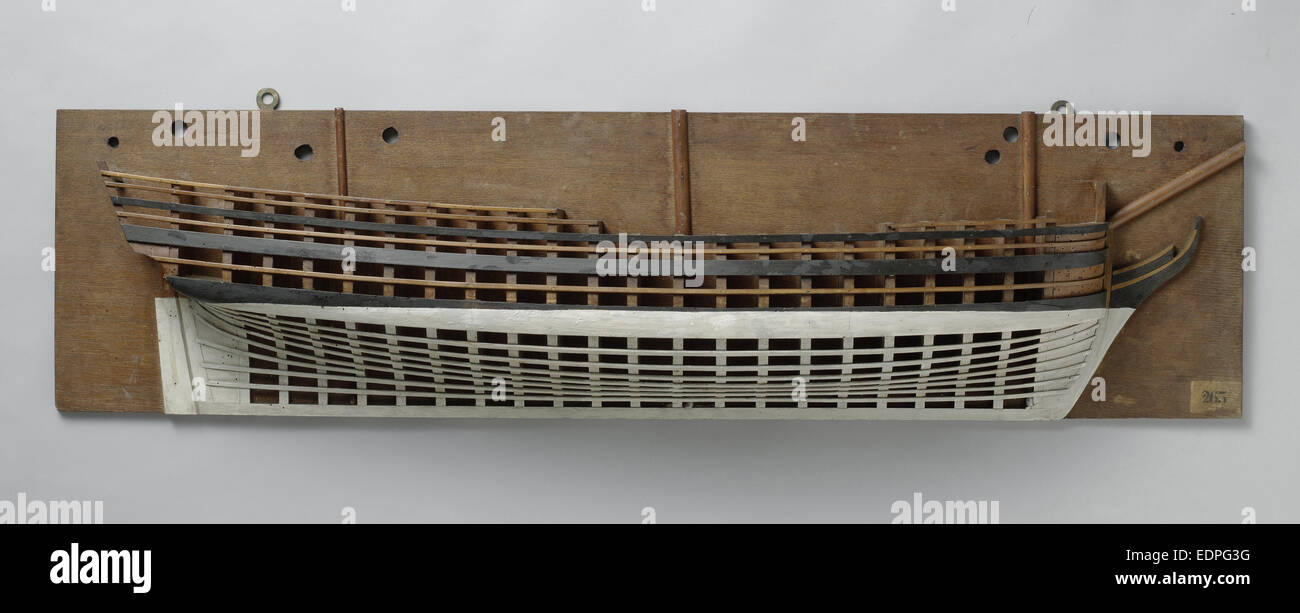 Half Model of a liner of 60 pieces, Anonymous, 1780 - 1820 - Stock Image