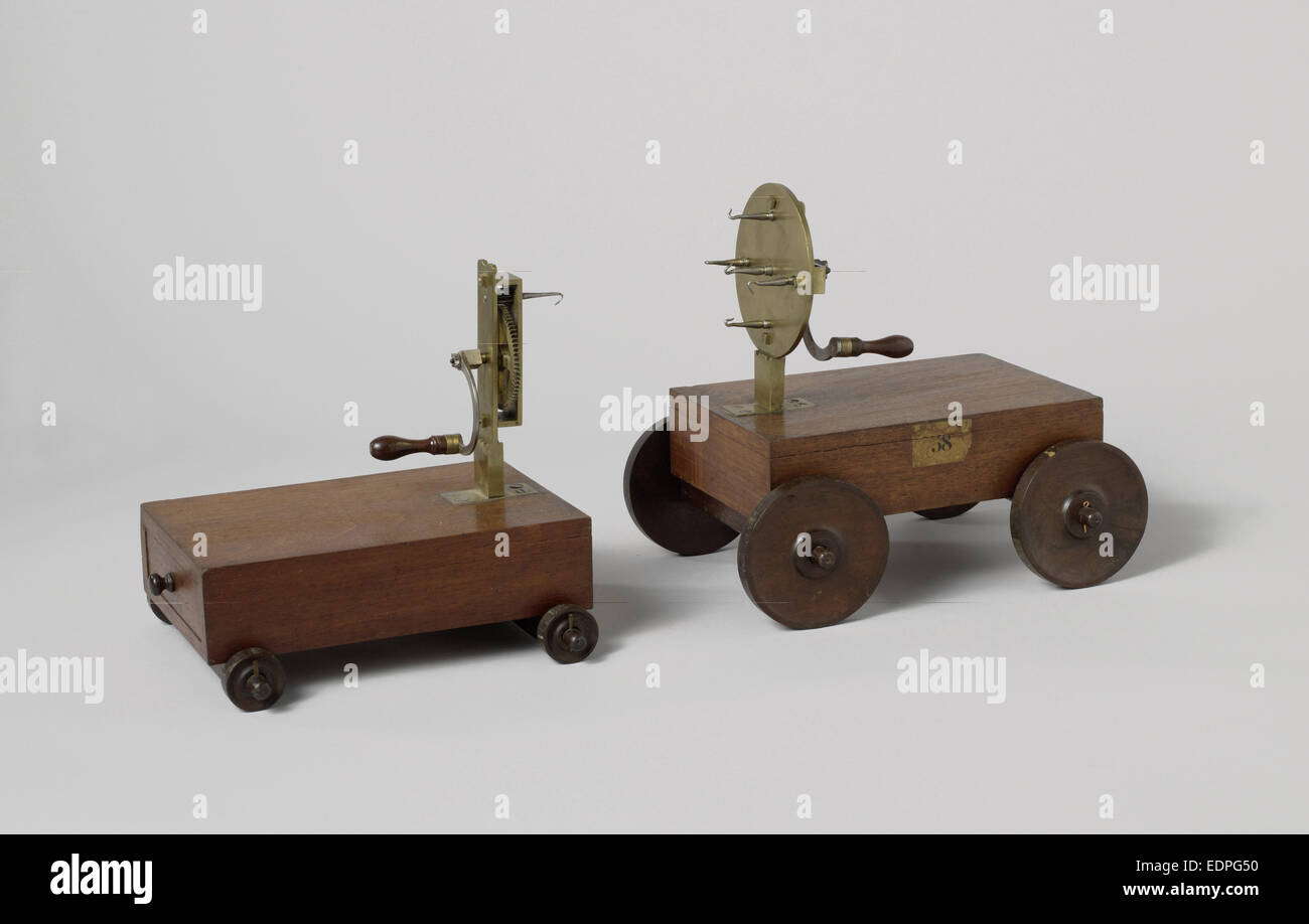 Turn Pole and carriage for rope-making, Anonymous, 1800 - 1858 - Stock Image