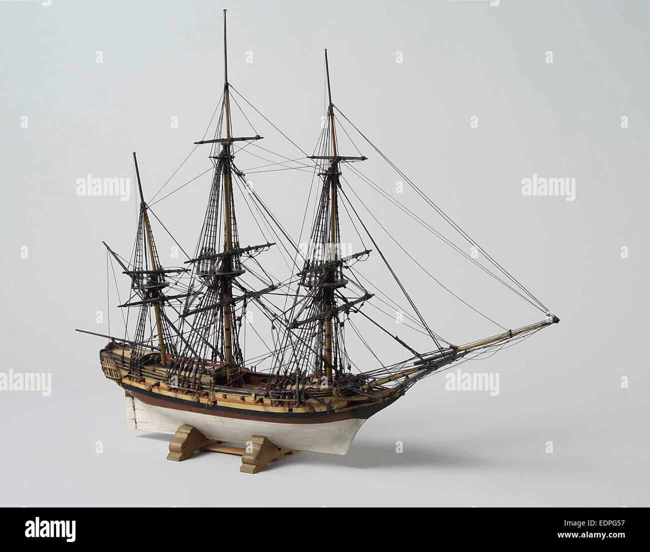 Ship, Anonymous, 1793 - 1807 - Stock Image