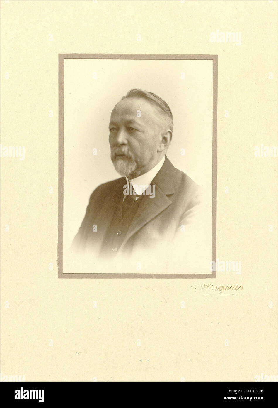 Andries Bonger in middle age, Julius Heinrich Hisgen, Firma F. Hisgen, 1930 - 1936 - Stock Image