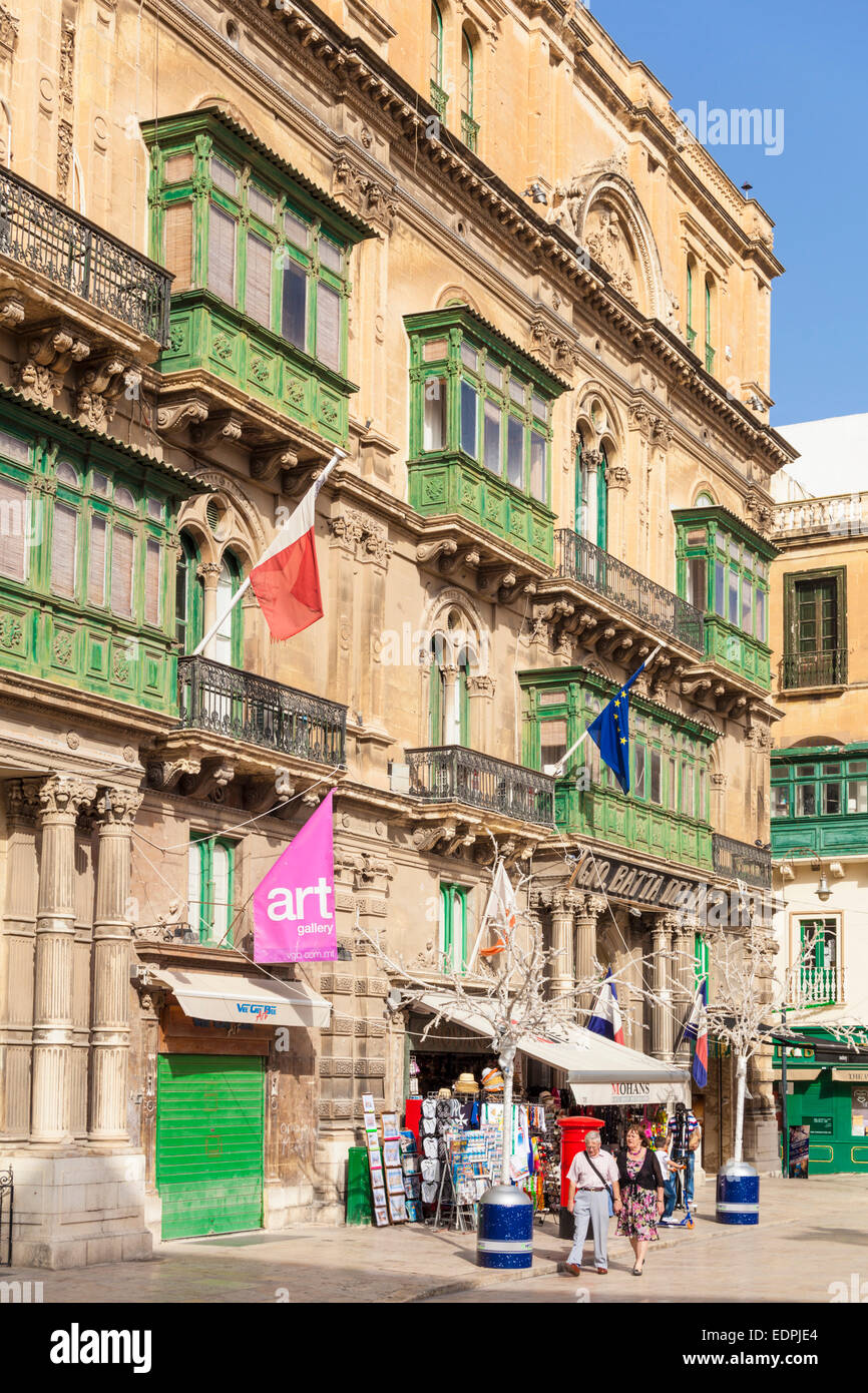 Freedom Square Valletta Old Town Valletta Malta EU Europe - Stock Image