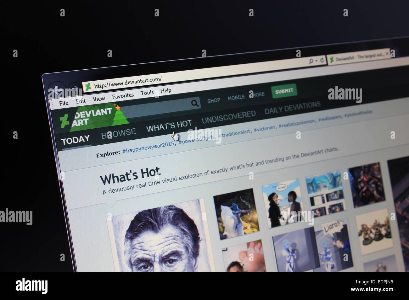 Deviantart.com Deviant art - Stock Image