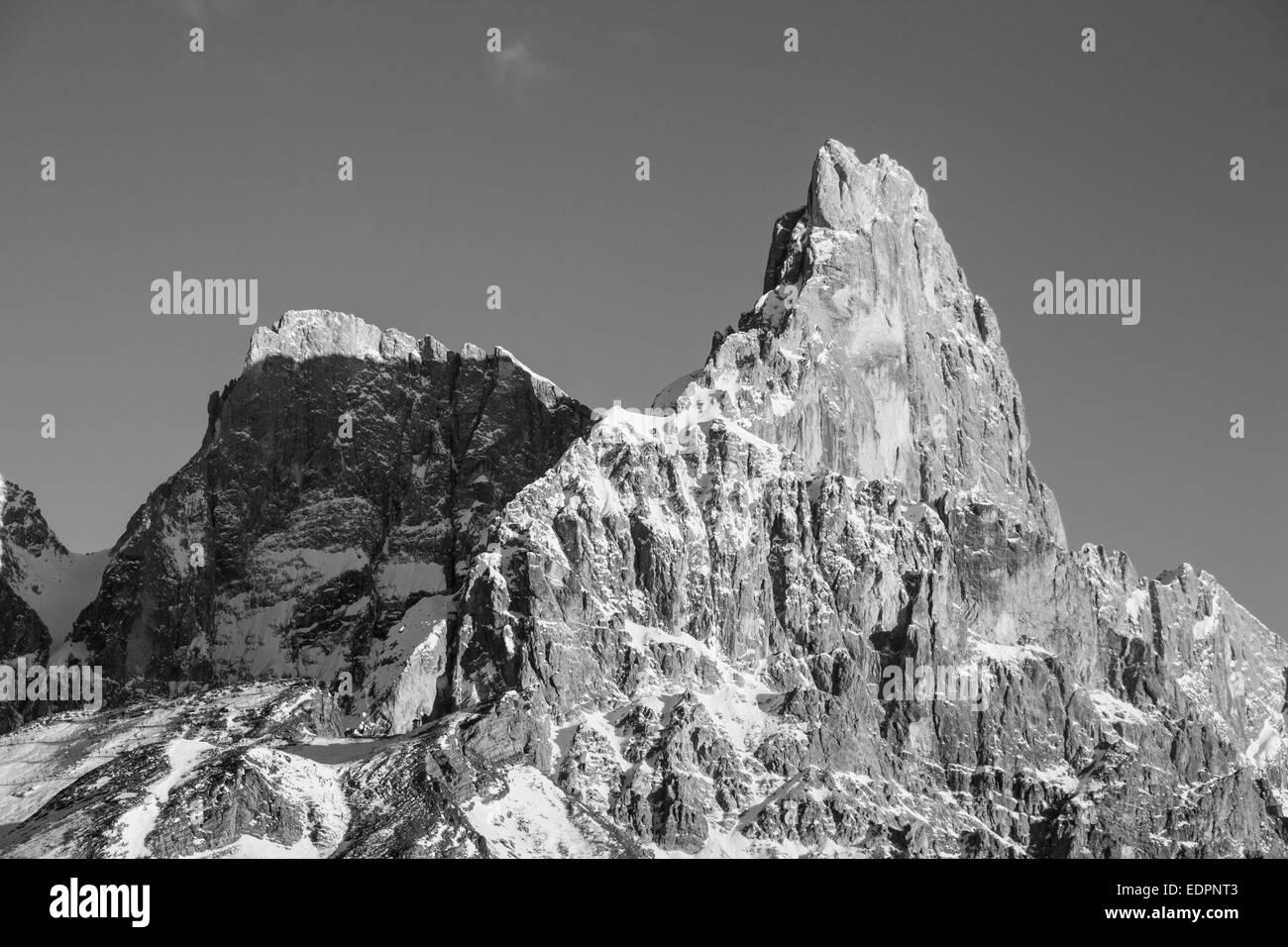 Cimon della Pala in Dolomiti Stock Photo