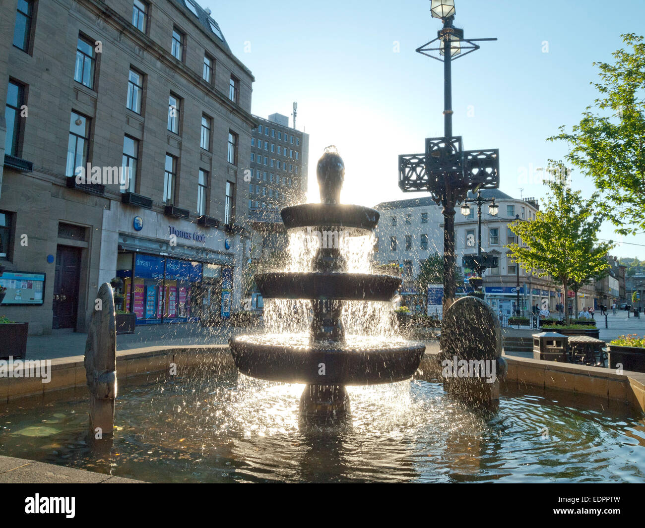 fountain city centre angus dundee caird hall - Stock Image
