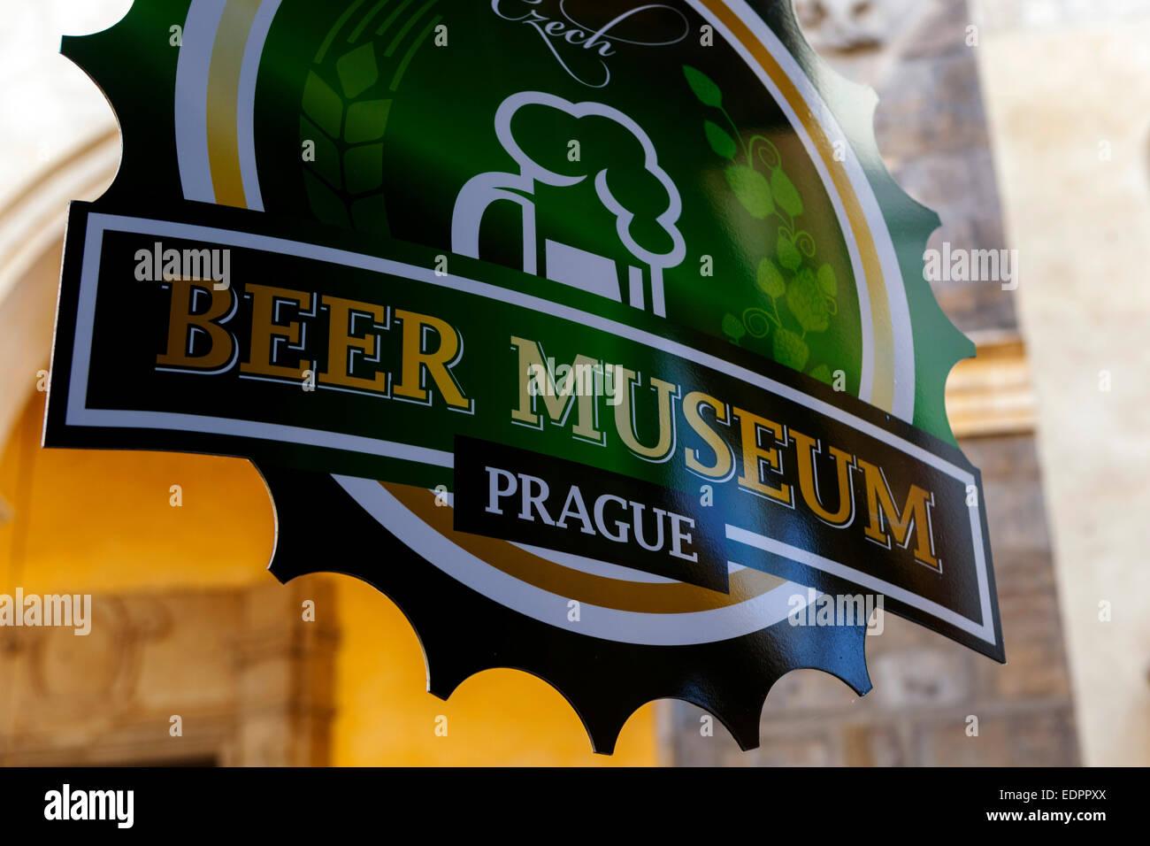 Prague Bar, unique pub sign, Czech Republic - Stock Image