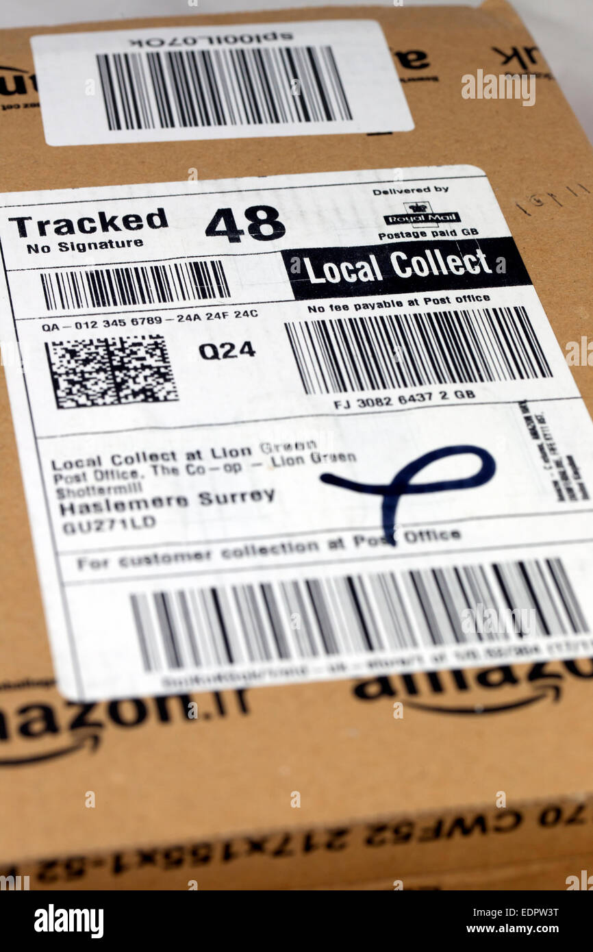 Amazon local collect parcel - Stock Image