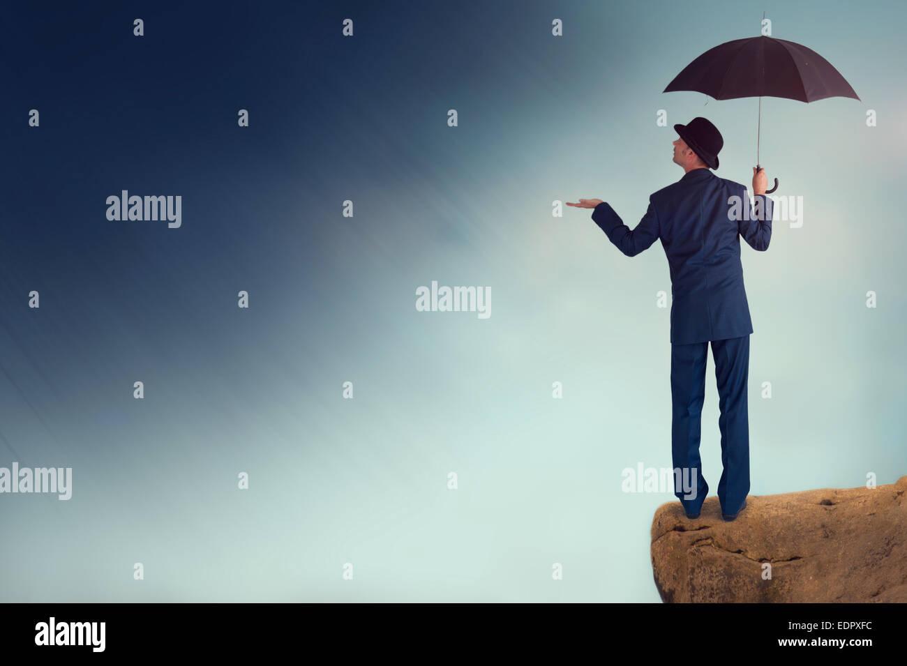 economic forecast outlook concept - Stock Image